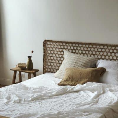 Tête de lit en rotin