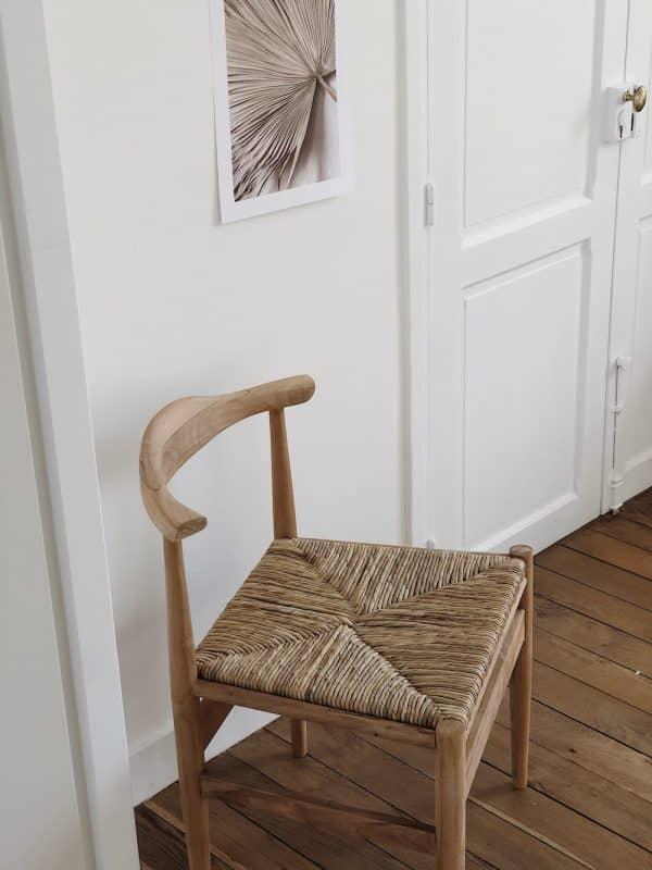 Chaise teck recyclé