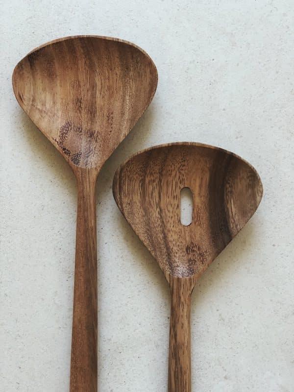 Couvert à salade en bois
