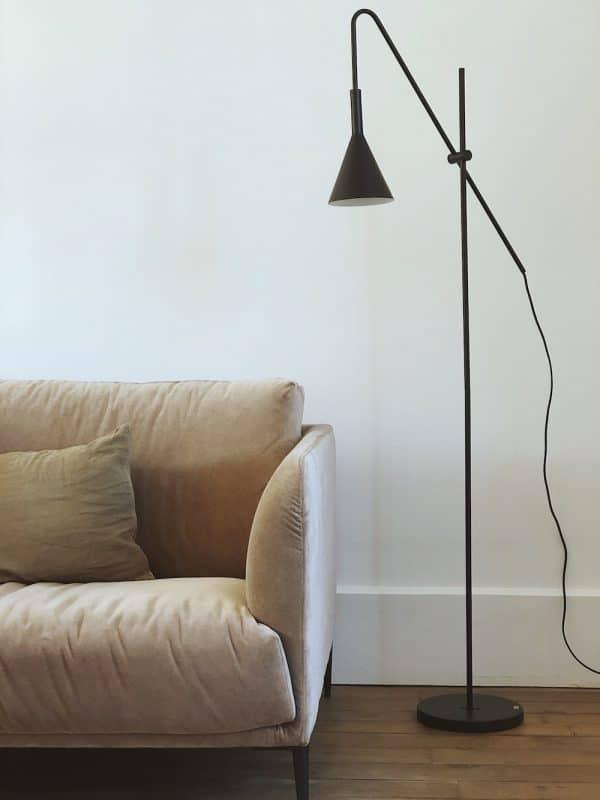 Floor lamp métal noir