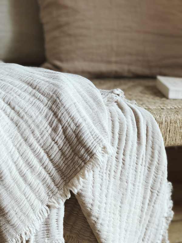 Couvre lit coton