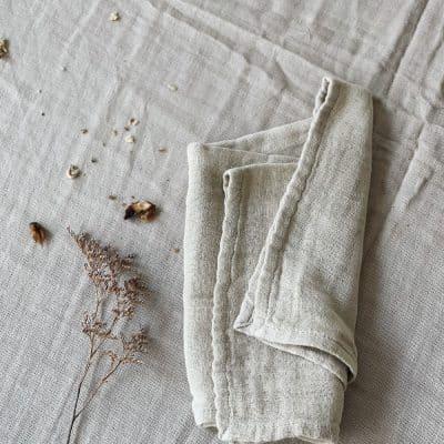 Serviette coton beige