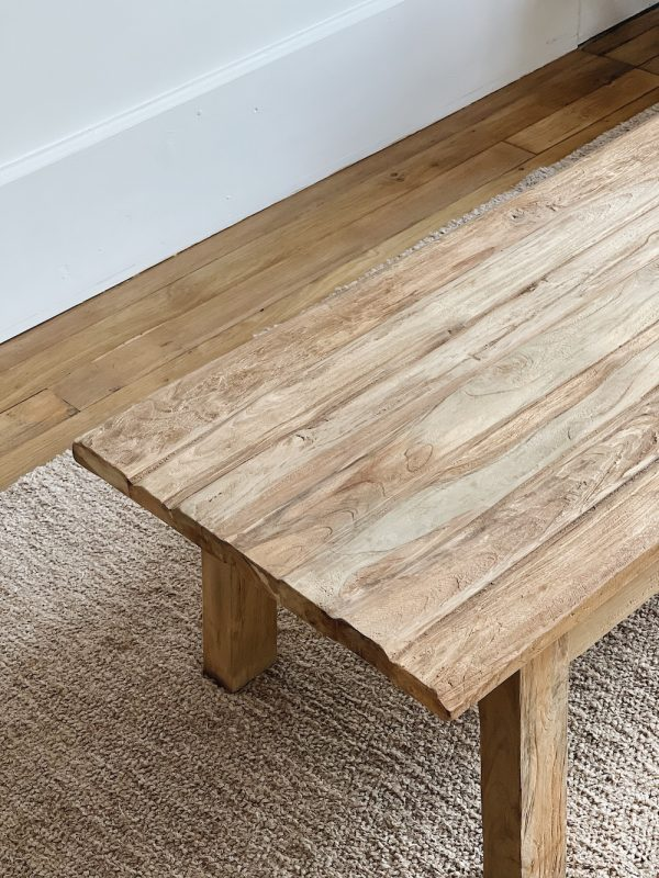Table basse teck recyclé