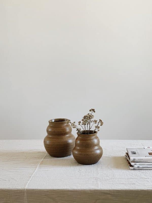 Vase argile fait main